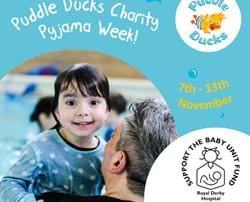 Puddle Ducks swimmers raise money for Friends of the baby unit !