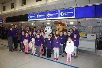 Last year's group as they head off to Lapland
