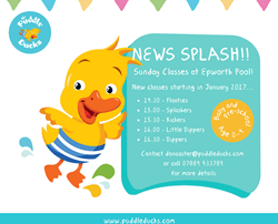 News Splash! Sunday Classes at Epworth Pool!