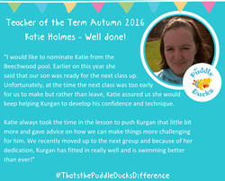 Congratulations to our Teacher of the Term Autumn 2016 Katie