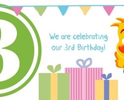 We're celebrating our 3rd Birthday!