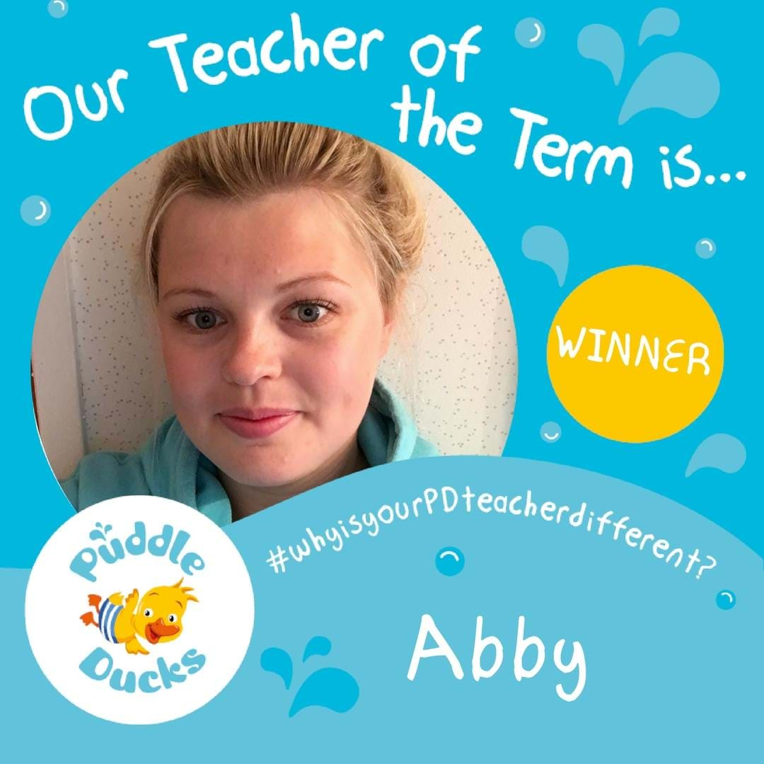 Super congratulations to Abby our Teacher of the Term Summer 2018!