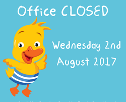 Office closure 2nd August