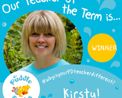 Kirsty is our Autumn Teacher of the Term!