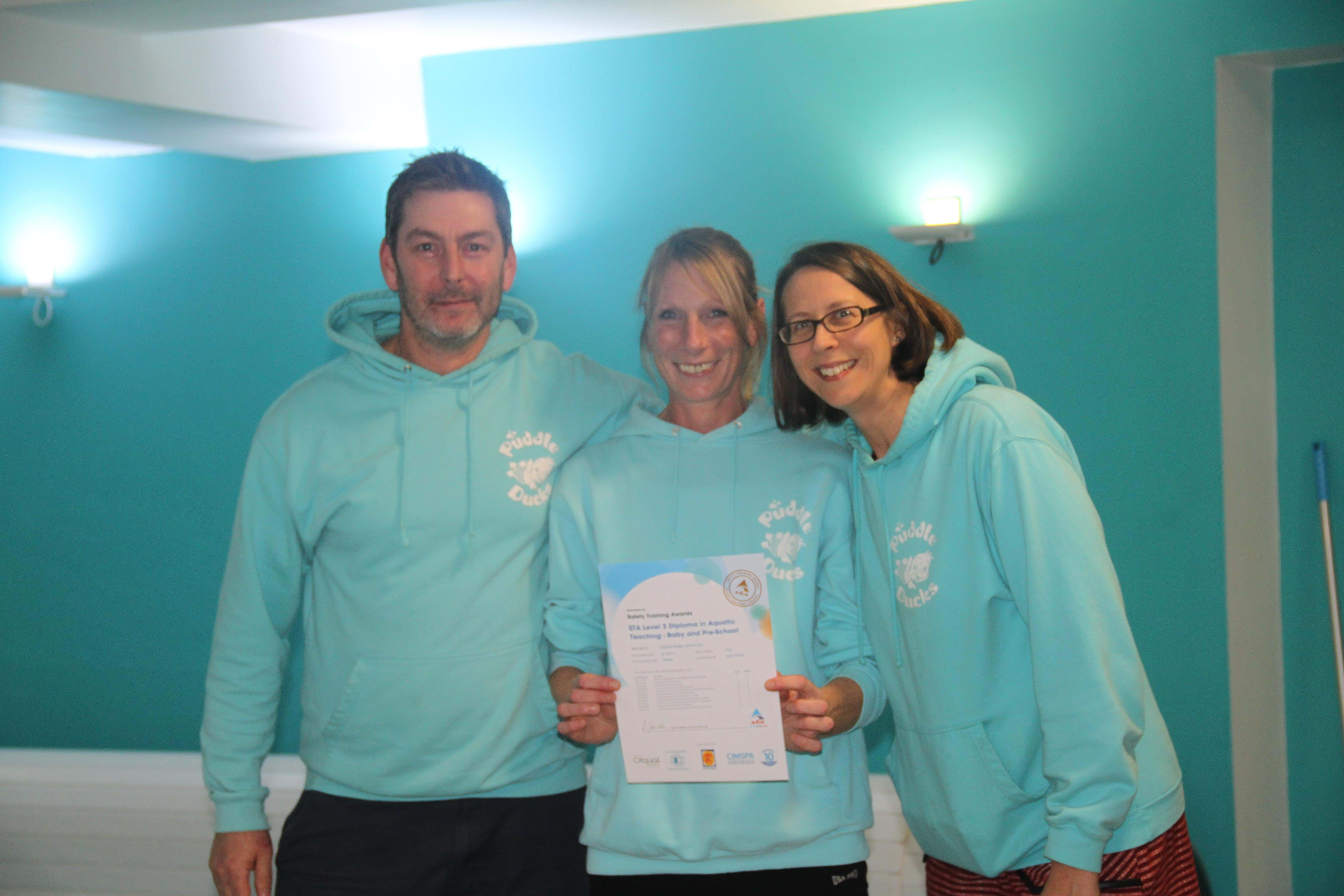 Our Head of Teaching Claire achieves STA Level 3 Diploma in Aquatic Teaching