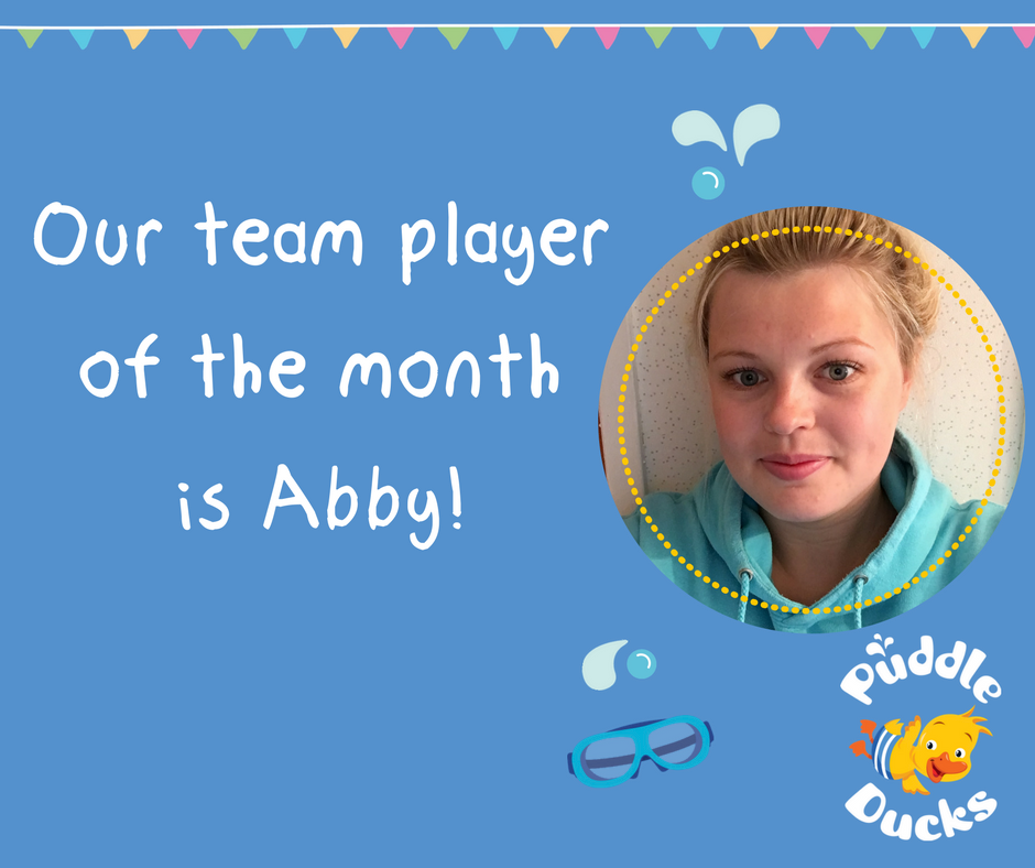 Our team player of the month is Abby