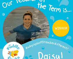 Daisy has won Teacher of the Term, Summer 2018