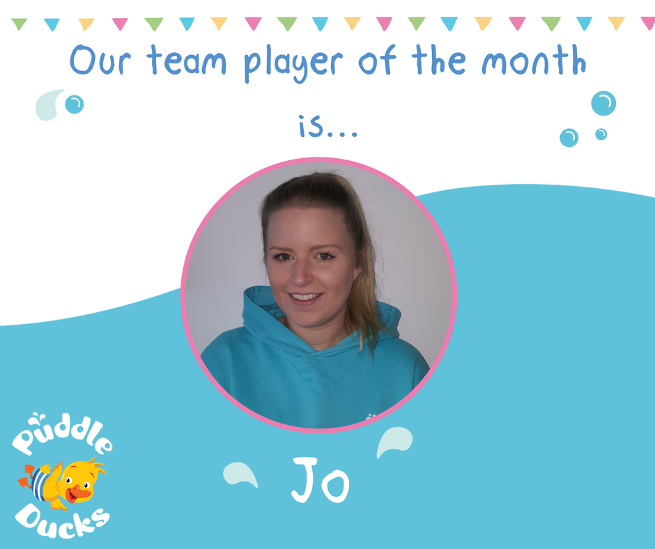 Our team player of the month is Jo!