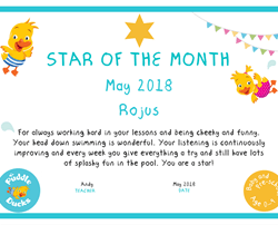 Star of the Month - May 2018
