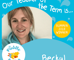 Congratulations to Becky our Teacher of the Term Summer 2018