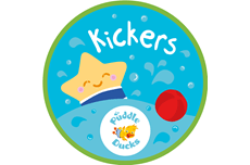 In Kickers (15-30 months), yes, you've guessed it, lots of kicking! Not forgetting splashing, reaching, holding on and turning! Water safety is a key element as they are entering a new found world of independence on land. We teach them, through fun activities, personal survival skills. Find out more…
