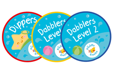 For our swimmers who are raring to go, we progress them from Little Dippers up into Dippers and then Dabblers. These classes are for our 3 and 4 year olds who are ready for the next stage; independent swimming on their fronts and backs, treading water, floating, diving to collect objects – the culmination of all the hard work comes together here with our swimmers demonstrating head down swimming, lifting their head to breathe and often achieving 5m and even 10m before they even start school!
