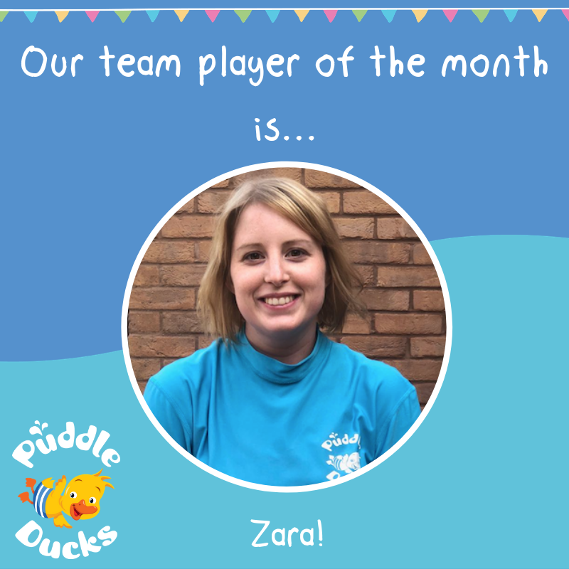Our Team Player of the month is Zara