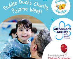 Puddle Ducks Worcestershire organises Pyjama Week, a charity swimming event
