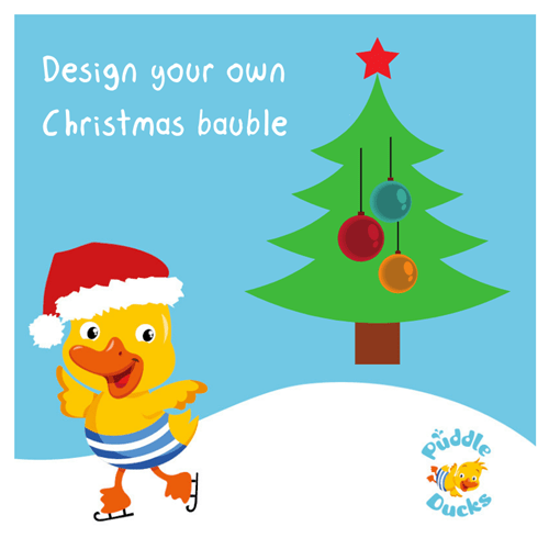 Design Your Own Christmas Bauble Puddle Ducks