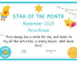 Star of the Month - November 2018