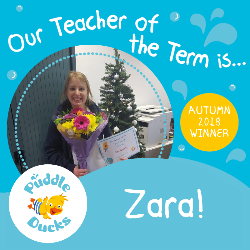 Our Teacher of the Term Autumn 2018 is Zara