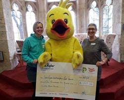 Swimmers raise money for Sue Ryder Leckhampton Court Hospice