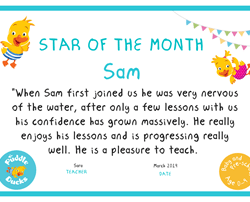 Well done Sam. We are so proud of you!