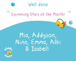 Swimming Stars of the Month - April