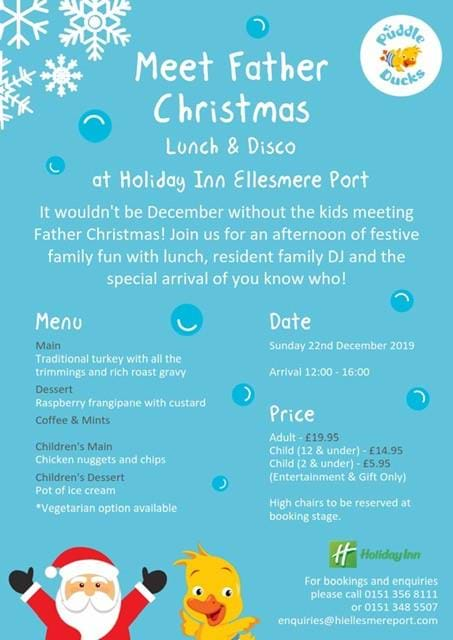 Christmas In The Oaks 2019.Christmas Dinner At Holiday Inn Cheshire Oaks 22nd Of