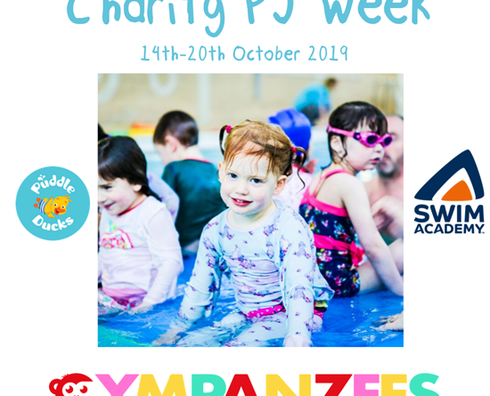 Gympanzees wins vote for 2019 Charity Pyjama Week!