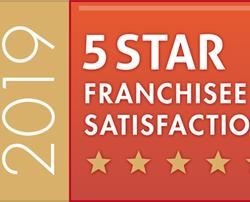5* Star Franchisee Satisfaction Seven Years Running!