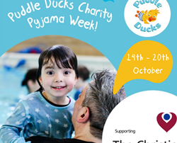 Puddle Ducks Greater Manchester organises Pyjama Week, a charity swimming event