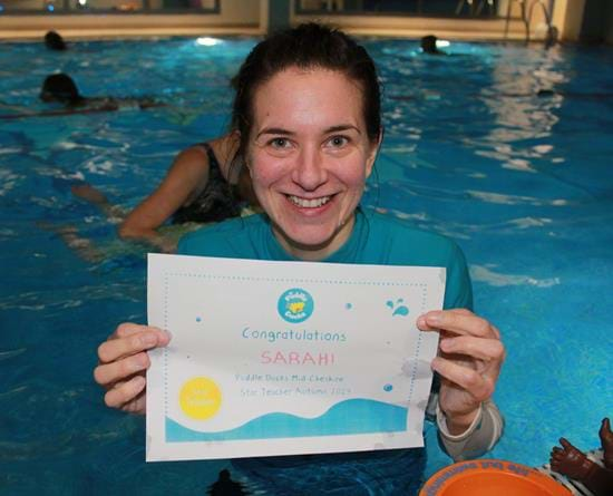 Sarah makes waves as Star Teacher of the Term!