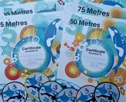 Distance Swim Badges and Certificates